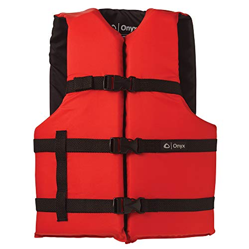 Onyx Universal Boating Vest Adult Universal Red ()