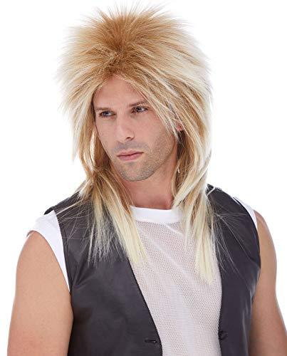 Long Rocker Wig - Mixed Blonde]()
