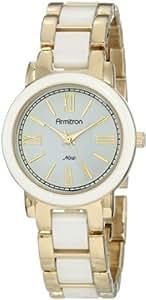 Armitron NOW Women's 753877WTGP Gold-Tone and White Ceramic Dress Watch