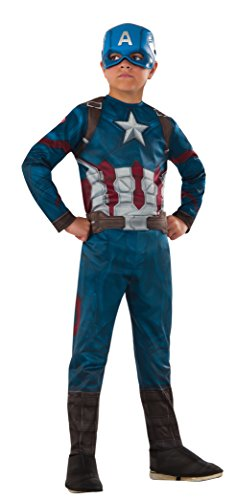 [Rubie's Costume Captain America: Civil War Value Captain America Costume, Small] (Captain America Costumes For Adults)