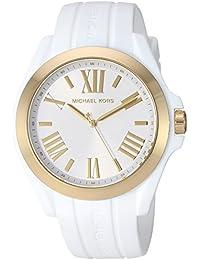 Women's 'Bradshaw' Quartz Plastic and Silicone Casual Watch, Color:White (Model: MK2730)