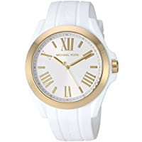Michael Kors Women's Bradshaw Quartz Silicone Strap, White, 0 Casual Watch (Model: MK2730