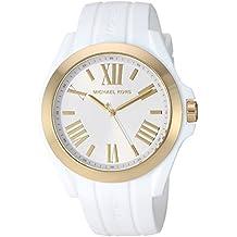 Michael Kors Women's Bradshaw Quartz Silicone Strap, White, 0 Casual Watch (Model: MK2730
