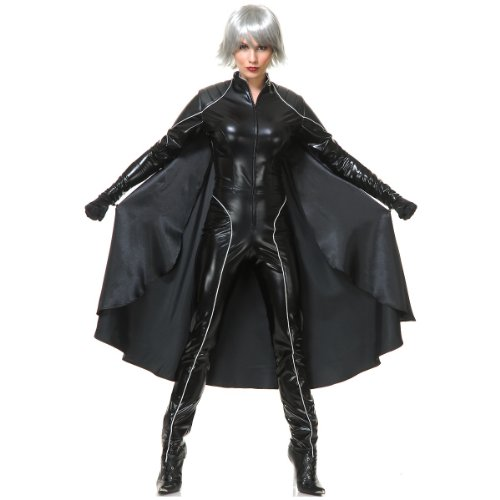 (Charades Thunder Storm Superhero Adult Costume, Black,)