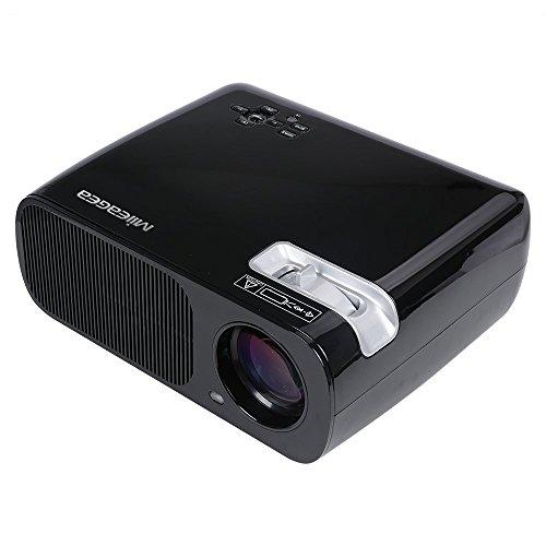 UVISTAR Mini Beamer HD Portble Projektor LED LCD USB Heimkino Videoprojektor 800x480 Native Auflösung Unterstützt 1080P TV AV HDMI VGA 2600 lumens für zu Hause, Präsentation, Unterwegs Konferenzrunde Party Unterhaltung
