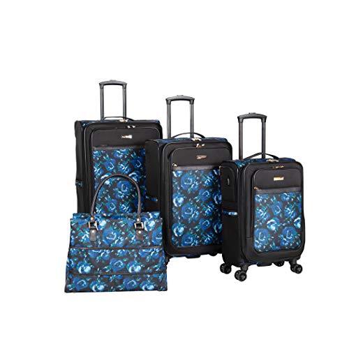 Isaac Mizrahi Irwin 2 4 Piece Luggage Set (Blue Floral)