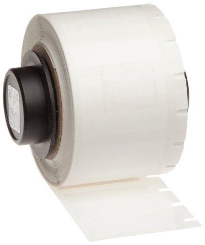 Brady PTL-15-423 TLS 2200 And TLS PC Link 0.275'' Height, 1'' Width, B-423 Polyester, White Color Thermal Transfer Portable Printer BradyBondz Label (750 Per Roll) by Brady
