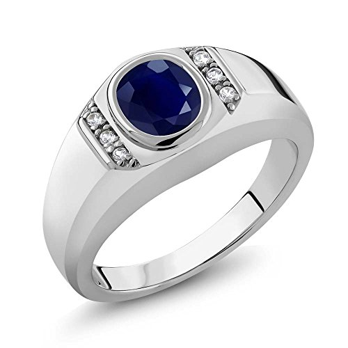 Sterling Silver Sapphire Created Available