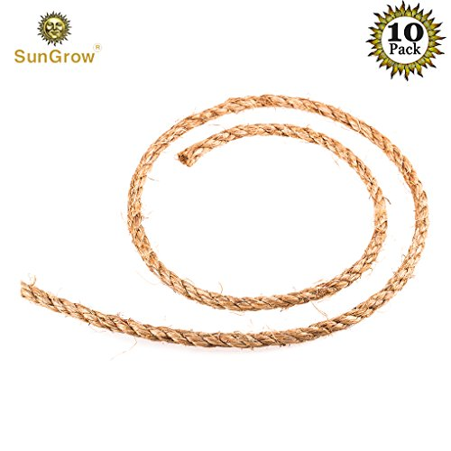 10 DIY Jute hemp ropes for air plant orbs --- Ruggedness and stability ensured - Resilient biodegradable twine that will last - Suitable for all types of gardening – Practical gift for all ages