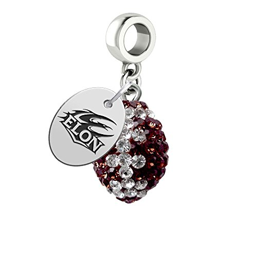 Elon Phoenix Crystal Football Drop Charm Fits All European Style Bracelets