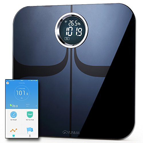 Yunmai Premium Smart Scale - Body Fat Scale with new FREE APP & Body Composition Monitor with Extra Large Display - Works with iPhone 8/iPhone X(10)