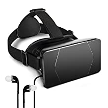 Badalink 3D VR Headset Glasses Virtual Reality Box Adjustable Lens Strap Made for 3.5-6.0 Inch Smartphone iPhone 7/6S/6 Plus/5/5S/SE Galaxy Note S6/S7 Edge 3D Movies Games