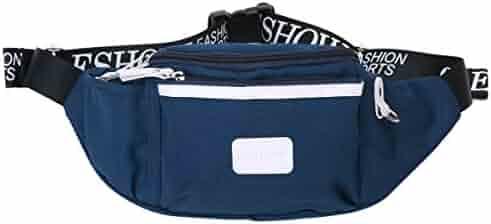 Eshow Men's Canvas Fanny Pack Waist Bag Outdoors Running Pack
