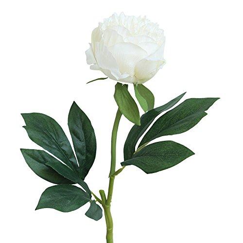 Athli Artificial Silk Fake Flowers Peony Floral Wedding Bouquet Bridal Hydrangea Decor Flowers Bouquet Calla Lily Foam ()