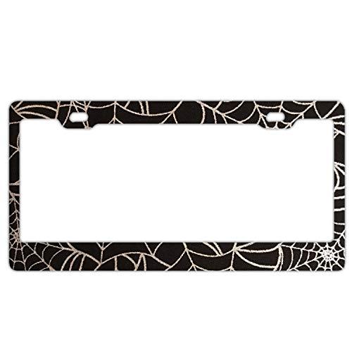 Steel Spider Web License Plate Frame for Home/Car Decor (Spider License Plate Frame)