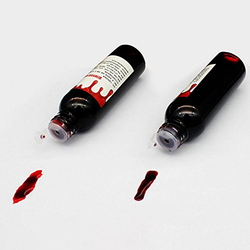 Smartcoco Artificial Fake Blood Props Realistic Vampire Blood Scary Halloween Make Up Party Favors Decoration Accessory (2 Pack, 30ML/Bottle)]()