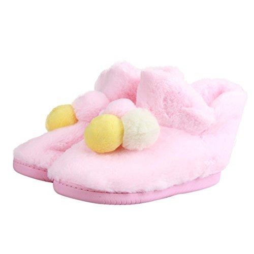 Gillberry Vrouwen Thuis Schoenen Haarbal Winter Herfst Warm Zwangere Vrouwen Schoenen Roze B