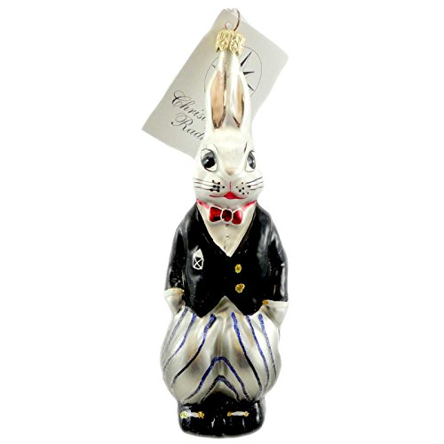 Christopher Radko BILLY BUNNY EVENT Blown Glass Ornament Easter Spring ()