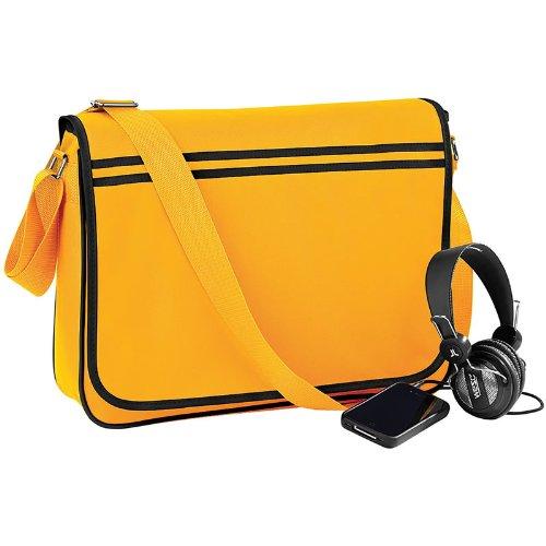 New Retro bolso bandolera para ajustable para el hombro y BagBase con media cremallera de bolsa de transporte bolsillo para tarjeta de zonas de amarillo