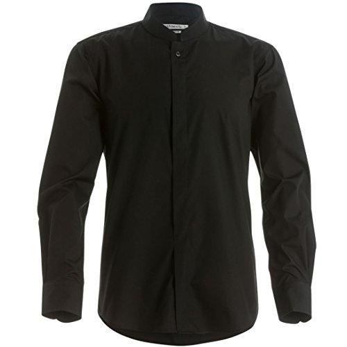 Kustom Kit Mens Mandarin Collar Fitted Long Sleeve Corporate Shirt (L) (Kustom Kit)