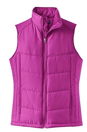Port Authority Ladies Puffy Vest>XXL Bright Berry/Bermuda Purple L709