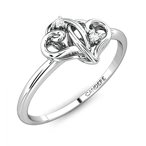14k White Gold Diamond Knot - 7