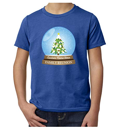 Family Snowglobe - Snowglobe with Custom Name -Family Reunion Youth T-Shirts - Royal CEMH200YFAM S41 M