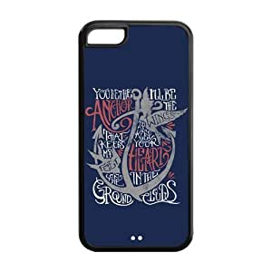 Hard Rubber Special Design iPhone 5c Cover Anchor Quotes Case for iPhone 5c