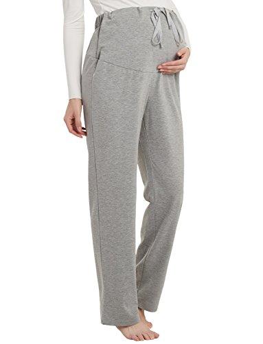 GINKANA Lounge Maternity Sleep Pants Pajamas High Elastic Waist Adjustable Waistband Pregnancy...