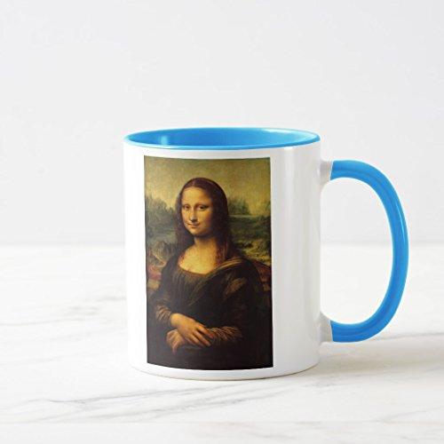 Zazzle Leonardo Da Vinci - Mona Lisa Coffee Mug, Light Blue Combo Mug 11 oz - Da Vinci 11 Light