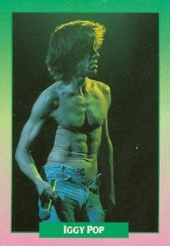 Iggy Pop trading card (Godfather of Punk Real wild Child) 1991 Brockum Rock Music #97 from Autograph Warehouse