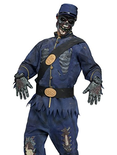 Scary Walking Dead Union Zombie Adult Halloween Costume