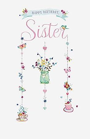 Tarjeta de cumpleaños para hermana: Amazon.es: Oficina y ...