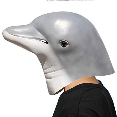 PartyHop - Dolphin Mask - Halloween Party Latex Sea Animal Mask -