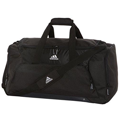Neue Unisex Adidas schwarz Gepolsterter Reißverschluss Verstellbarer Tragegurt Halt alle Duffle Bag ONE SIZE