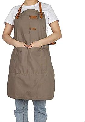 TOPINCN Delantal de Chef de Moda para Mujer, Delantal de algodón ...
