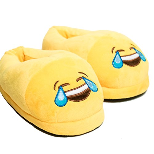 Ankit Crying Eye Emoji Bedroom Home Slippers Cute Cartoon Kids Teens Women Girls Plush Slippers smiley Face Funny indoor Warm Cozy Soft Shoes Size Fits All
