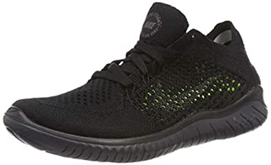 Nike Australia Women's Free RN Flyknit 2018 Running Shoes, Black/Anthracite, 6 US
