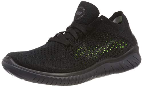 Nike Womens Free RN Flyknit 2018 Running Shoes (6.5) Black/Anthracite