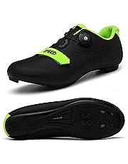 VIPBQO Heren Fietsschoenen Spin Shoestring met compatibele Cleat Peloton schoen met SPD en Delta voor mannen Lock Pedaal Bike Schoenen