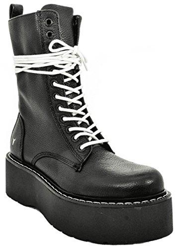Windsor 001 Leopold Mujer Botas Black para Militares Smith Negro wPOqFw