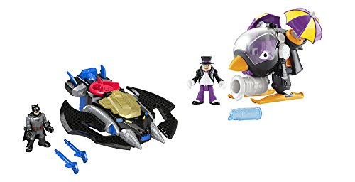 Fisher-Price DC Super Friends Imaginext Batwing & The Penguin Copter Gift Set Action Figure