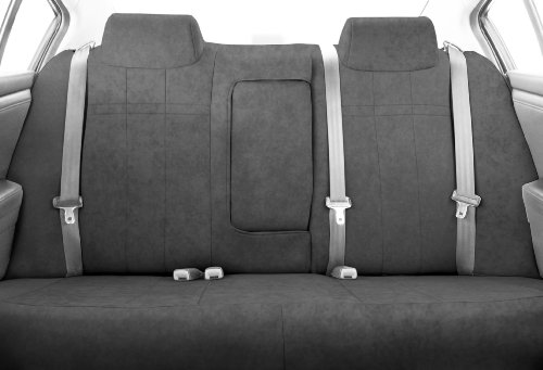 CalTrend Rear Row 40/60 Split Bench Custom Fit Seat Cover for Select Toyota Highlander Models - MicroSuede (Light Grey)
