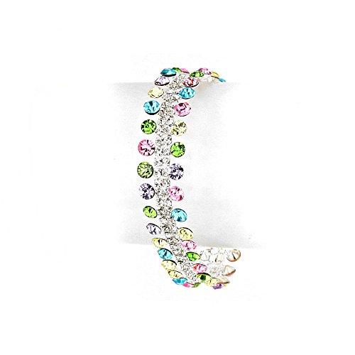 Joji Boutique: 40-Crystal Pastel (Multi Colored Rhinestone Bracelet)