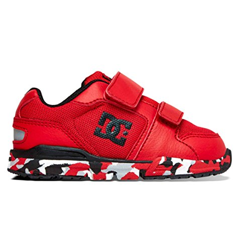 (DC Shoes Baby-Girls Shoes Forter V - Low-Top Shoes - Toddler - US 7 - Red Athletic Red US 7 / UK 6 / EU 23)
