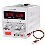 Adumly 30V 5A 110V Precision Variable DC Power Supply w Clip Cable Digital Adjustable