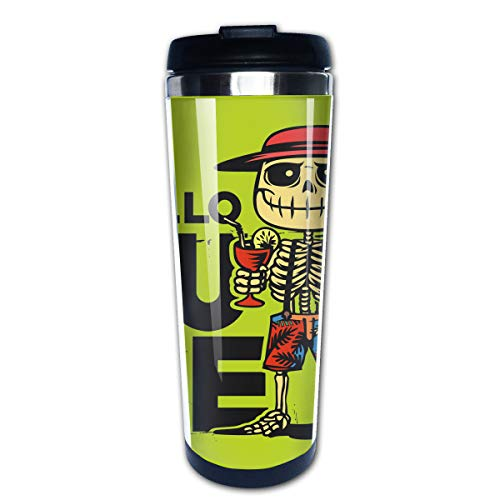 400ML Thermos Cups Stainless Steel Portable Hello Summer