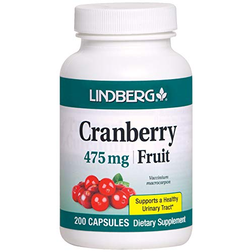 Lindberg Cranberry Fruit 475 Mg - Supports a Healthy Urinary Tract* (200 Capsules)