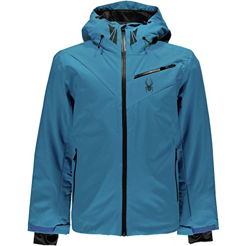 Spyder Fanatic Insulated Jacket - Men's Electric Blue/Electric Blue/Polar, M by Spyder