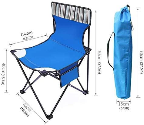 KDKDA Portable Lightweight Folding Camping Chair Lightweight Easy to Set Up And Fold Suitable for Backpacking Hiking Picnic Beach Mutli-color to Choose (Color : Brown)